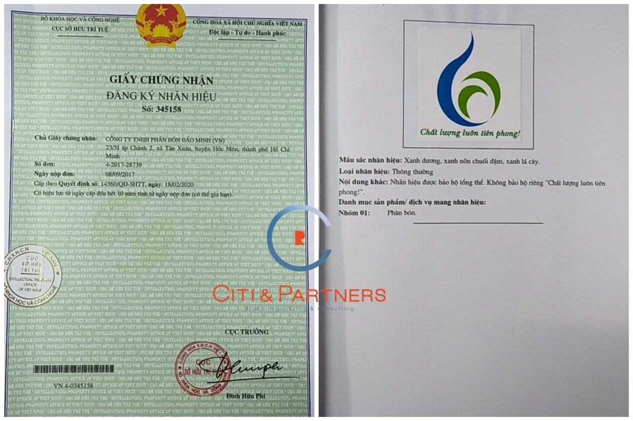 Citi &Partners hỗ trợ Bảo Minh đănq ký nhãn hiệu